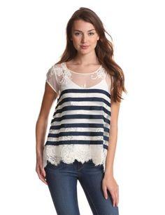 BCBGMAXAZRIA Women's Echo Knit Sportswear Top