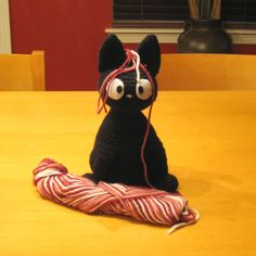 Day 29:  Amigurumi Animal of the Day: Jiji the Cat 1 by agamerswife  Free Pattern: http://www.ravelry.com/patterns/library/jiji-the-cat  May 2013 #TheCrochetLounge #Amigurumi Pick