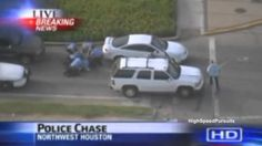 Houston Texas High Speed Police Chase Suicidal Murder Suspect (ABC)