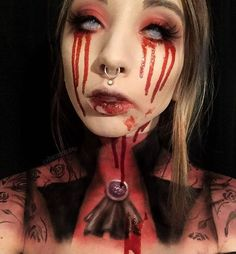 Bloody Mary Bloody Mary Bloody Mary Halloween makeup