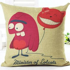 2016 Factory Direct Supply Cartoon Version Cute Monster Printing Linen Square Throw Pillow Cushion For Kids Gift #Affiliate