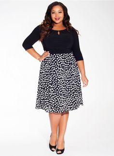 7df4f5c0c8 Plus Size Dress in Pearl Dot 30% OFF. Ends 12 1 2014
