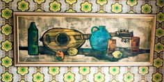 Vintage 1960s Retro Mandolin Still Life Framed Print Lynch Tretchikoff Era by UpStagedVintage on Etsy