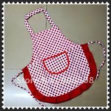 Delantal de cocina con pechera roja estilo vintage fotos - Delantales y gorros de cocina para ninos ...