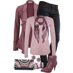 Dusty Rose by jennifernoriega on Polyvore featuring Schiesser Revival, MUSTANG, Nine West, Park House, Style & Co., Dsquared2 and Alexander McQueen