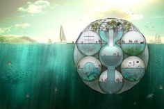 In The Future We Will All Live In 'Photosynthetic French Sea Pods'  Tackling rising oceans with style  By Shaunacy Ferro