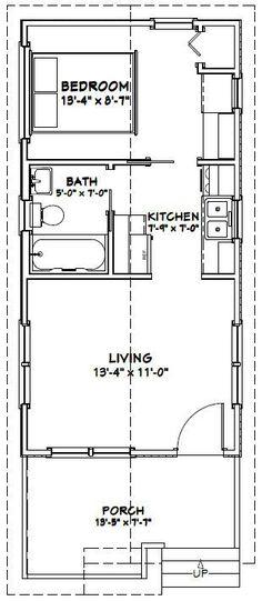 14x28 1 Bedroom House -- #14X28H1C -- 391 sq ft - Excellent Floor Plans