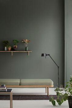 Simple Scandinavian Interior Design Ideas For Living - Living Room Green, Green Rooms, Living Room Paint, Living Room Colors, Living Room Designs, Living Room Decor, Living Rooms, Bedroom Colors, Bedroom Ideas