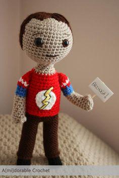 It's a crocheted Sheldon!