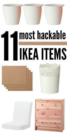 We love IKEA furniture! It's so practical and fun. But what's even more fun is hacking it to personalize it for your own needs. Here are some of the most hackable items for you to keep in mind the next time you're in the big blue store. Ikea Hacks, Ikea Furniture Hacks, Diy Hacks, Furniture Stores, Ikea Furniture Makeover, Smart Furniture, Furniture Nyc, Furniture Companies, Cheap Furniture