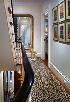 considering a cheetah rug in the living room - is that my Hollywood Regency Pom Pom Dog in the background??!!