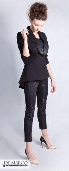 Dynamiczny i zarazem ekskluzywny czarny frak to wygodna propozycja stylistyczna dla kobiet sukcesu.  #fashionista  #fashionable#fashiondiaries #fashionblog #fashionweek #moda #styl #мода #designer #fashion #trend #shop #fashionlover  #fashiondesigner #fashiondaily  #fashionweek #businesswoman #officeclothes #suit #tailcoat #dresssuit #fulldress #dresscoat