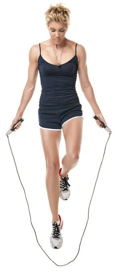 I just found my jump rope! Burn more calories with the cardio-acceleration workout Apr 2012 AM by Jackie Warner Posted in Health & Wellness / Diet & Fitness / Exercise & Fitness Musa Fitness, Fitness Diet, Health Fitness, Fitness Weightloss, Jackie Warner, Vive Le Sport, Video Sport, Fitness Motivation, Bodybuilding