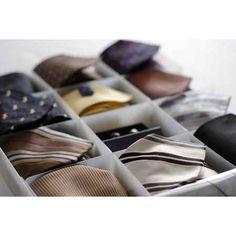 Box för slipsar/scarves, 12 fack