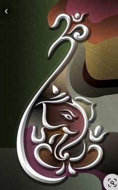 Ganesha Drawing, Ganesha Tattoo, Lord Ganesha Paintings, Lord Shiva Painting, Shiva Art, Krishna Art, Hindu Art, Shri Ganesh Images, Ganesha Pictures