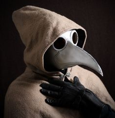 Plague Doctor's mask Maximus in white leather by TomBanwell