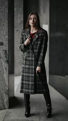 Classic Checked Coat / Winter Coat / Grey Checked Coat / Outwear / Street Style / Handmade / Fashion : Classic Checked Coat / Winter Coat / Grey Checked Coat / Outwear / Street Style / Handmade / Fashion / Warm Coat / Autumn Coat / Wool Coat – MY World Autumn Coat, Winter Coat, Dress Outfits, Casual Dresses, Kids Coats, Warm Coat, Handmade Clothes, Fashion Brand, Street Style