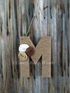 yarn monogram instead of wreath