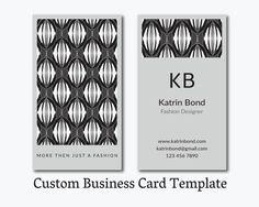 Business Card Template, Calling Cards, Custom Business Cards, Vertical Business Card Template, Business Card Design, Gray Business Card  #teampinterest