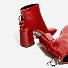 HIGH HEEL ANKLE BOOTS WITH METALLIC PULL TAB-Ankle boots-SHOES-WOMAN | ZARA United States
