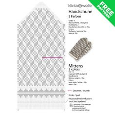 Wool Gloves - Latvian Mittens Knitting Pattern # 20 free pdfpost_tags] Best Picture For handschuhe s Knitting Charts, Easy Knitting, Knitting Stitches, Knitting Patterns, Beginner Knitting Projects, Knitting For Beginners, Mittens Pattern, Wool Gloves, Scrappy Quilts
