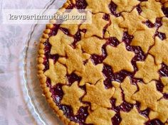 How to Make Cherry Pie Recipe? Illustrated Cherry Pie from Kevserin Cuisine tricks, detailed descrip Sweet Cookies, Cake Cookies, Key Lime Pie, Turkish Sweets, Quiche, Cherry Tart, Sour Cherry, Tart Recipes, Perfect Food