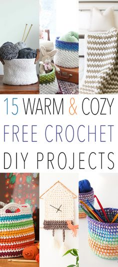 15 WARM & COZY FREE Crochet DIY Projects you will want to make NOW...each one links to the free pattern!!!  These make great gifts too and tis the Season!