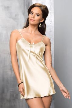 52cdf26d1e Irall Aria Nightdress Cream from Naughty Dorothy Lace Slip, Satin Slip,  Satin Bows,