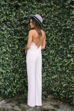 Rime Arodaky Wedding Dress / http://www.deerpearlflowers.com/wedding-pantsuits-and-jumpsuits-for-brides/