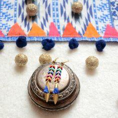 boucle d'oreille multicolore en bijou multicolore et bijoux femme multicolore bijoux bijoux multicolore