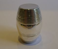 Antique English Sterling Silver Nutmeg Grater by Samuel Meriton II C 1775 Grater, Spices, English, Vase, Sterling Silver, Antiques, Utensils, Vintage, Storage