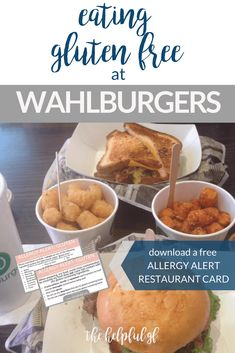 Wahlburgers is known for their burgers, but is also a great restaurant for gluten-free dining! Originally located in Boston, but now spreading throughout the United States and Canada (including New York City and Las Vegas. Pin now and click through for my full gluten-free review! See what we ordered and what gluten-free accommodations were made #glutenfreedining #glutenfreeburgers #restaurantreview
