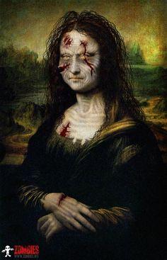 Mona Lisa Zombie by Miss Liz
