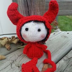 Ravelry: Project Gallery for Red Devil Doll. Toy from the Tanoshi series. pattern by Tatyana Korobkova