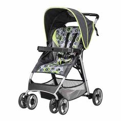 Evenflo SmartFold Stroller, Starry Night Green