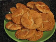 """Dairy, Egg and Nut Free Snickerdoodle Cookies - Food Allergy Mama (I made these for a lactose-intolerant coworker once; they were awesome! You couldn't tell they were """"allergy friendly"""" at all) Lactose Free Recipes, Eggless Recipes, Egg Free Recipes, Allergy Free Recipes, Gluten Free Cookies, Sugar Cookies, Snacks, Food Allergies, Nut Free"""