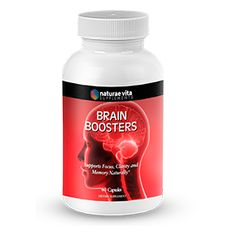 Brain-booster Nature Vita's Brain Boosters is a dietary supplement that supports memory, learning and other cognitive functions and contains a unique blend of ingredients that improve brain functions and enhance memory and cerebral metabolism. Weight Loss Supplements, Metabolism, Brain, Learning, Unique, Nature, Products, The Brain, Naturaleza