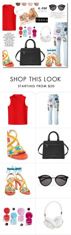 """K-Pop Superstar with Yoona 3"" by marvelialauraa ❤ liked on Polyvore featuring Courrèges, GCDS, Paula Cademartori, Terre Mère, Victoria Beckham, Yves Saint Laurent, Folio, Frends and kpop"