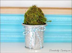 Blue & Green Spring Mantel @ Domestically-Speaking.com