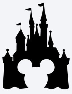 Disney castle clipart with mickey head - ClipartFox
