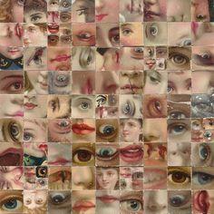 Liz Yarosz-Ash  Yantra #11. Cut-paper collage composed from vintage and antique ephemera.