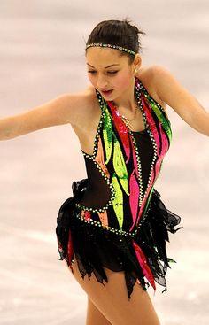 Black Figure Skating / Ice Skating dress inspiration for Sk8 Gr8 Designs.