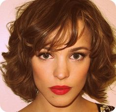 Cute short hair for wedding. Also I just love Rachel mcadams
