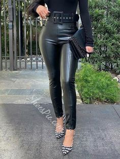 Ericdress Slim Plain Womens Casual Pants Fashion girls, party dresses long dress for short Women, casual summer outfit ideas, party dresses Fashion Trends, Latest Fashion # Leather Pants Outfit, Black Leather Pants, Latest Fashion Clothes, Fashion Pants, Sneakers Fashion, Fashion Shoes, Fashion Outfits, Fashion Trends, Casual Pants