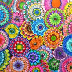 mandala coloring pages finished - Yahoo Image Search Results Secret Garden Coloring Book, Colorful Garden, Colorful Flowers, Adult Coloring Pages, Coloring Books, Johanna Basford Secret Garden, Johanna Basford Coloring Book, Spirograph, Color Pencil Art
