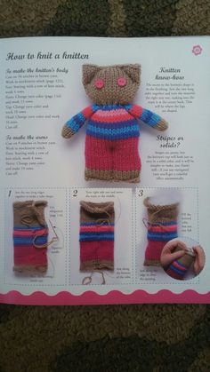 Com Best 12 une bookabot – SkillOfKing. Knitted Doll Patterns, Knitted Dolls, Knitting Patterns Free, Crochet Toys, Crochet Patterns, Loom Knitting, Baby Knitting, Dou Dou, Knitting For Charity