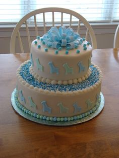 Kroger Baby Shower Cakes Cake Is Frosted With
