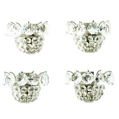 Set of Four Wall Sconces by Bakalowits Crystal and Nickel, Austria, circa 1960s