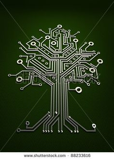 tree and circuit board - Google Search