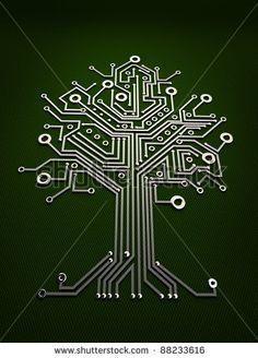 tree and circuit board - Google Search
